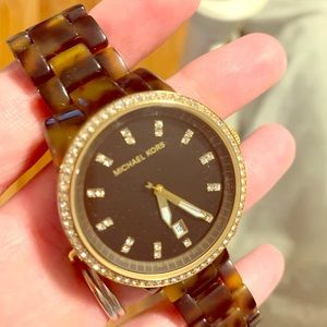 Michael Kors Tortoise Watch - great condition!
